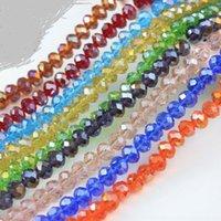 MUTIONS Renkler Abacuse Kristal Cam Boncuk 4mm 8mm 10mm 12mm # 5040 Spacer Boncuk Takı Yapımı Için