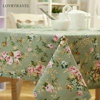 Lovrtravel-Drucktisch-Tuch-Hochzeits-Party-Tischabdeckung Nordische Kaffeetücher Home Küche Dekor Baumwolle Leinen Tischdecke