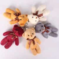 Qixi Festivali Sevgililer Günü Peluş Kolye Siyam Teddy Bear Papyon Ayı Çanta Aksesuarları Aksesuarları Küçük Hediye Bebek Anahtarlık