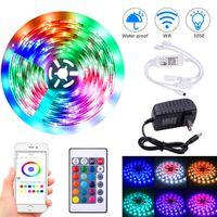 高輝度12V-5050 RGB WiFiリモコン10メートル24キー300ライト(40W)ライトストリップデュアルディスクディスカウント