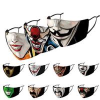 Maschere viso adulto divertente di stampa tessuto maschere pagliaccio Bocca copertura riutilizzabile protezione antipolvere lavabile prova maschera adulti