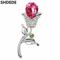 Épingles, broches SHDEDE Cristal de haute qualité de fleurs Invitations de mariage Broche Broche Bouquet Bouquet Mode Bijoux -47801