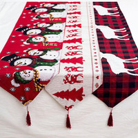 Table Runner for Christmas Party Decorations Holiday Decor F...