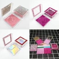 مربع شفاف الرموش صندوق نوع فليب فلاش حجر الراين صناديق بطاقة أسفل الرموش الصناعية التجميل التغليف المعطي اللون حالة 3 7ye G2