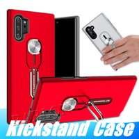2 in 1 Hybrid Armor Cover Adsorptive Metal Car Magnetic Ring Case With Mount Holder for iPhone 12 Mini 11 Pro XR XS Max Samsung Note 20 S20