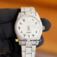 V3 جديد Gypsophila Diamond Dial Seagull ETA 2824 Automatic Mens Watch M126333 M126334 العربية Mark 904L الصلب سوار الماس Hello_Watch