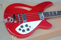 Custom Factory semi-hollow Rosso Basso elettrico con bianco Pickguard, Tastiera in palissandro, 5 manopole, un'offerta personalizzata