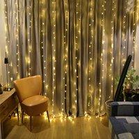 4M 웨딩 거실 파티오 파티 숍 휴일 조명 체인의 경우 3M (400 개) LED 커튼 고드름 조명 화환 크리스마스 장식을 X