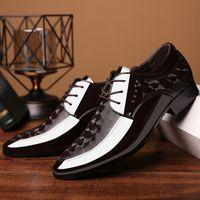 Büro Männer Kleid Schuhe Männer Formale Schuhe Leder Luxus Mode Bräutigam Hochzeit Schuhe Männer Oxford Kleid 38-48 Spitz