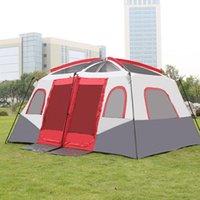 الخيام والملاجئ خيمة كبيرة التخييم المعطف من الشمس 8-10-12 الناس غرفتين قاعة واحدة