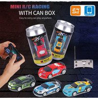 wholesale 1:58 Remote Control MINI RC Car Battery Operated Racing PVC Cans Pack Machine Drift-Buggy Bluetooth radio Controlled Toy Kid
