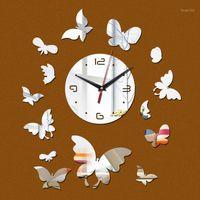 NUOVO TIME-LIMITED LIMITED Sì Specchio Orologio da parete orologio Acrilico Safe Soggiorno Design Quartz Watch Sticker1
