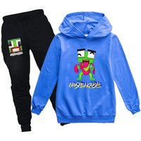 2021 New Kids Felpa con cappuccio Pantaloni Pantaloni Set Insuncciabili TrackSuits Joggers per Toddler Boy Girl 3-14 anni