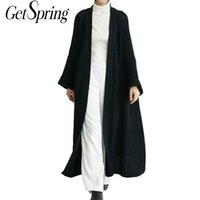 GETSRING cardigan delle donne del maglione di inverno donne extra-lungo allentato di lana spessa donne Maglieria Primavera solido del manicotto lungo cappotto 201006