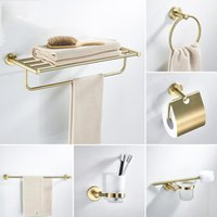 Accessori da bagno Accessori da bagno Hardware Set Golden Color Swan Toilet Holder Portabicchieri Porta asciugamani Rack Tissue Rotolo 6677001 Accessorio