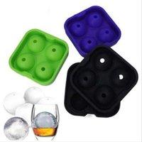 Faça o fabricante de gelo molde grande diâmetro de diâmetro grande membrana de gelo bola de gelo bola tijolo redondo molde de molde de mofo acessórios wy111q-1