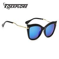النظارات الشمسية TOEXPLORE إطار معدني الرجال النساء العلامة التجارية مصمم نظارات الحاجب hd عدسة مرآة مرآة النظارات الأزياء عالية الجودة uv400