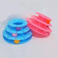 Игрушка для игрушек для кошек игрушечная игра для мыши котенка интерактивные смешные шариковые башни поставки Turntable три слоя