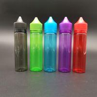 Bunte kunststoff mollige Gorilla-Flaschen 60ml V2 Gorilla-Einhorn-Tropfflasche mit Tamper-offenmittel Mützen für Vape-Saft E-Flüssigkeit
