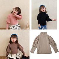 Little Kids Girls Tops en blanco Puff Manga Designer Fashions Fashions Fashion Accesorios Linda Tshirts Tops Pure Algodón Tees 561 K2