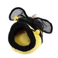 الأصفر النحل شكل القط الدافئة القط السرير سرير بيت الكلب جرو عش قذيفة الشتاء كيس النوم منتجات الحيوانات الأليفة - size1