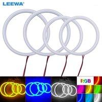 Leewa 2x120mm 2x100mm Авто Авто HALO Rings Хлопковые огни SMD LED Angel Eyes для E92 DRL белый / синий / желтый / RGB # CA39751