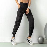 Дамы Женщины студии йоги штаны быстро сохнут кулиской Запуск спортивные брюки Сыпучие Dance Studio Jogger Девушки Йога штаны Gym Fitness