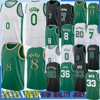Kemba Walker Jayson 8 0 Tatum Nuevas camisas de camisetas de baloncesto de la NCAA Larry Bird 33 Jaylen 7 Brown Gordon Hayward Jersey Jersey 20