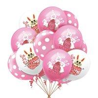 Paskalya parti dekorasyon balonlar 12 inç çocuklar karikatür tavşan tavşan hava balonu lateks balon doğum günü partisi dekorasyon malzemeleri için G10705