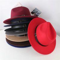 Fábrica ins 7 colores moda sombreros madre y yo elegantes adultos sólidos fedora sombrero banda plana salsa jazz niños panams gorras