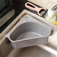 المطبخ تخزين الرف استنزاف سلة الرفوف مع شفط كوب بالوعة الزاوية pp البلاستيك الإسفنج فرشاة القماش مصفاة سلة استنزاف رفوف 242 G2
