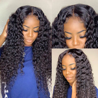 인간의 머리 가발 레이스 프론트 브라질 말레이시아 인도 곱슬 머리 실크베이스 탑 가발 레미 버진 헤어 레이스 프론트 가발 흑인 여성용