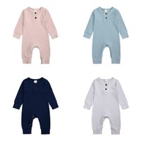 Baby Boy Romper Long Sleeve Knitted Ribbed Baby Clothes Girl...