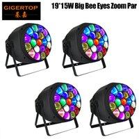 4pcs / lotto Grande Bee Eye Par ZOOM 19X15W 4IN1 RGBW LED autonoma lineare Dimmer rotazione Hawkeye fascio Wash Indoor Par