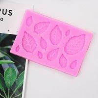 DIY торт украшения поставляет силиконовые розовые кленовые листья прессформы кухонные розовые Pastrymold формы шоколадные розовые новое прибытие 1 75JH M2
