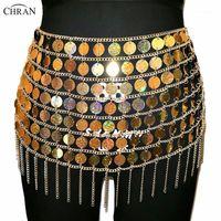 Chran Laser Gold Seallem Bally Belly Waist Catena Sexy Mini Gonna Donne Collana Bikini Wear Party Dress Festival Sexy Bod Gioielli1