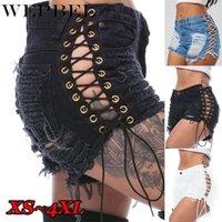 WEPBEL 2020 Yeni Moda Yaz kadın Moda Genç Kızlar için Yüksek Bel Denim Şort Jeans Rahat Feminino Pantolon Ripped