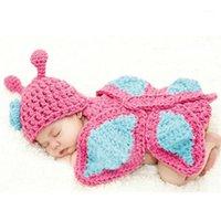 Recién nacido Fotos de los accesorios Animales Disfraz infantil Sombrero recién nacido Ropa para niños Fotografía de punto Prop Baby Crochet Ropa1