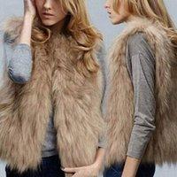 Autunno Inverno donne gilet di pelliccia caldo Faux giacca corta Gilet Furs Coats signora Casual Gilet Outwear S-3XL H8