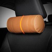 Leepee 1 قطعة اكسسوارات الداخلية بو الجلود رئيس الرقبة دعم سيارة وسادة الذاكرة رغوة سيارة الرقبة وسادة لينة headrest1