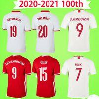 Poland 2019 2020 2021 Soccer Jersey Edition 100 aniversario 19 20 21 Milik LEWANDOWSKI PISZCZEK TAPA DE FÚTE DE LA CUBIERTA DE FUTBELL UNIFORME