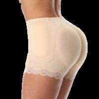 Jececer New acolchoado Calcinhas Hip Roupa interior Enhancer Mulheres Shapewear Lace roupas tamanho S-6XL