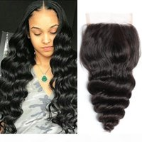 Bella Hair Malasian Lace Closures Flow Wave Virgin Hair Hair Weages Free Parte con Baby Bair Top Closures 4x4 Color Natural 8-26 pulgadas