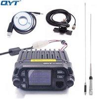 QYT KT-8900D Renkli Mini Araç Montaj Araba Mobil Radyo KT8900D 25 W Quad Ekran Çift Bant UHF / VHF Mobil Transiceve KT 8900D1