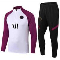 Team Letter Embroidery Training Tracksuit Men Moda Sportwear Pista Abiti da calcio Esecuzione a maniche lunghe PULLOVER SHIRTS Pantaloni da jogger