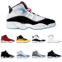 6 ring erkek basketbol ayakkabıları 6 kadın sneaker güney sahilinde yetiştirilen concord erkek eğitmenler spor ayakkabı