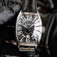 النسخة الجديدة عالية CASABLANCA 8880 C DT أسود تاريخ جلدية الطلب فضة الصلب حالة الرجال ووتش التلقائية الميكانيكية الشريط Luxry مصمم الساعات