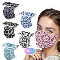 В наличии Дизайнер одноразовые леопардовые маски для лица Леди подарок Печать Взрослый 3-слойный защитный Защита Маска Здоровье Лицевые Сантехнические Маски Коктейль Бар Салон