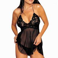 도매 여성 란제리 나이트웨어 속옷 잠옷 레이스 Babydoll 드레스 G-String Set11
