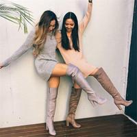2021 الياقة المدورة طويلة الأكمام سترة اللباس النساء الخريف الشتاء فضفاض تونك محبوك عارضة الوردي الملابس رمادية الصلبة فساتين بلون